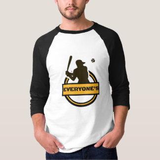 Het honkbalt-shirt van Tiffany van iedereen T Shirt