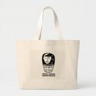 Het hoofd Anonieme Canvas tas van het Afval