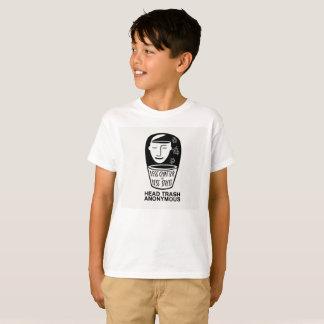 Het hoofd Anonieme Kinder Overhemd van het Afval T Shirt