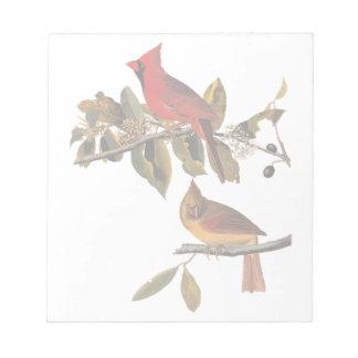 Het hoofd Grosbeak Vintage Art. van Audubon van Notitieblok