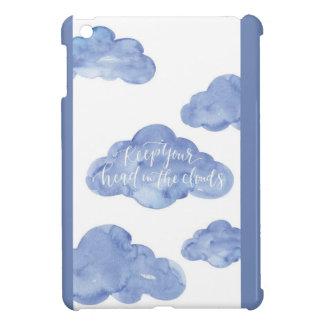 Het hoofd in de Wolken sluit het Glanzende Hoesjes Voor iPad Mini