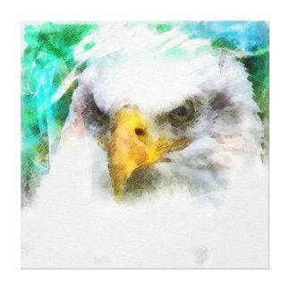 Het hoofd schilderen van abstract Eagle Stretched Canvas Prints