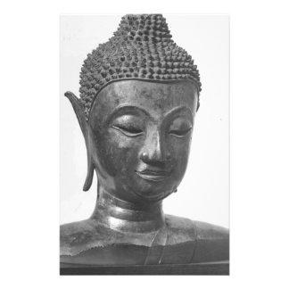 Het Hoofd van Boedha - 15de eeuw - Thailand Briefpapier