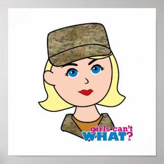 Het Hoofd van Camo van de Luchtmacht van de blonde Poster