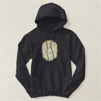Het Hoofd van de leeuw Geborduurde Sweater Hoodie