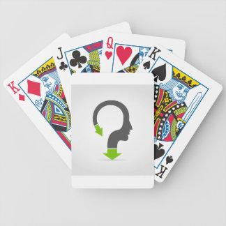 Het hoofd van de pijl pak kaarten