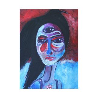 Het Hoofd van de raaf Canvas Afdrukken