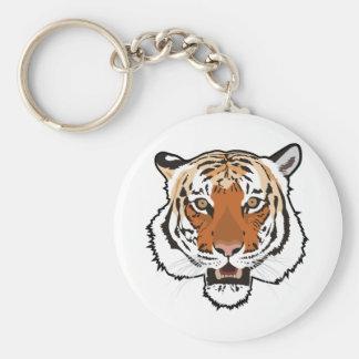 Het hoofd van de tijger sleutelhanger
