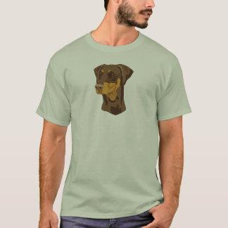 Het Hoofd van Doberman, Rood, Uncropped T Shirt