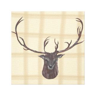 Het Hoofdcanvas van het mannetje Stretched Canvas Print