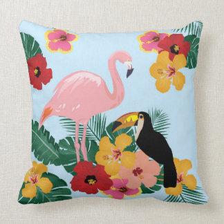 Het Hoofdkussen van de flamingo en van de Toekan Kussen