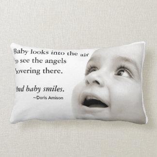 Het hoofdkussen van de Glimlachen van het baby Lumbar Kussen