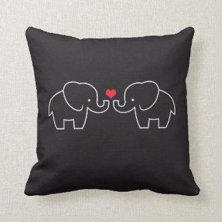 Het Hoofdkussen van de Liefde van de olifant Sierkussen