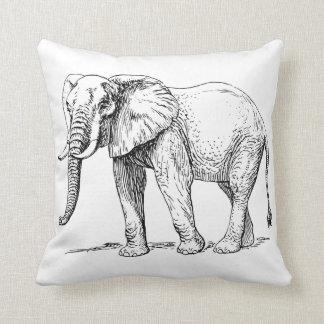 Het hoofdkussen van de olifant sierkussen