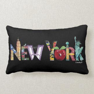 Het hoofdkussen van de Stad van New York Lumbar Kussen