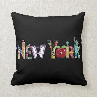 Het Hoofdkussen van de Stad van New York Sierkussen