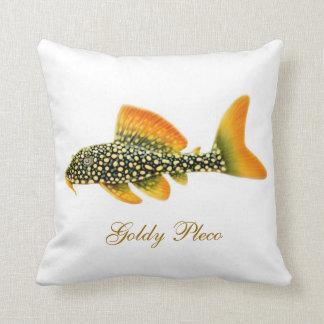 Het hoofdkussen van de Vissen van Goldy Pleco Sierkussen