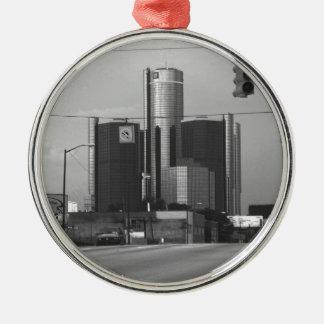 Het Hoofdkwartier van General Motors Zilverkleurig Rond Ornament