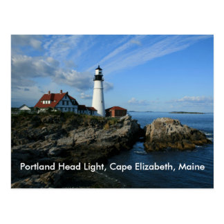 Het HoofdLicht van Portland, Kaap Elizabeth, Maine Briefkaart