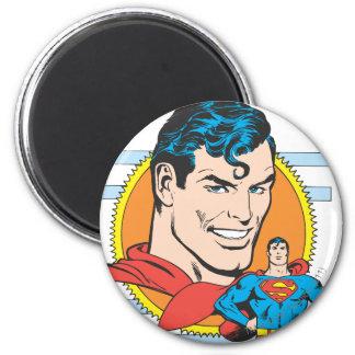 Het HoofdSchot van de superman Ronde Magneet 5,7 Cm