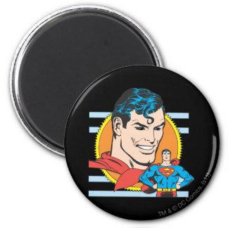Het HoofdSchot van de superman Koelkast Magneet