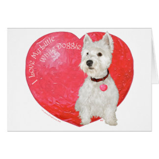 Het Hoogland Wit Terrier Valentijn van het westen Briefkaarten 0