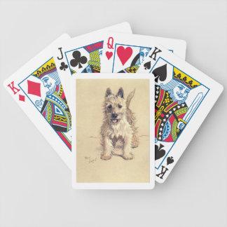 Het Hoogland Wit Terrier van het westen Poker Kaarten