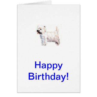 Het Hoogland Wit Terrier Westie van het westen Kaart