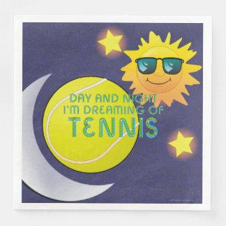Het HOOGSTE Tennis van de Nacht van de Dag Papieren Servet