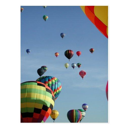 Het hoogtepunt van de hemel van hete luchtballons wens kaarten