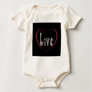 Het Hoogtepunt van het Hart ASL van Liefde Baby Shirt