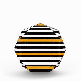 Het Horizontale Oranje Zwarte Wit van strepen Acryl Prijs