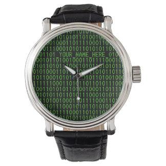 Het Horloge #3 Binary_YOUR_NAME_HERE_ van Geek