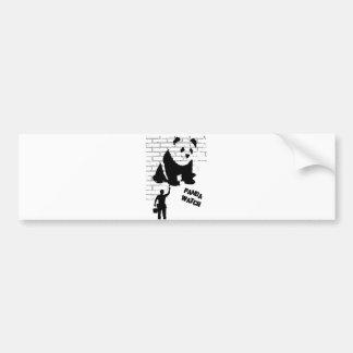 Het Horloge van de panda Bumpersticker