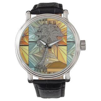 Het Horloge van de Stijl van het Gebrandschilderd