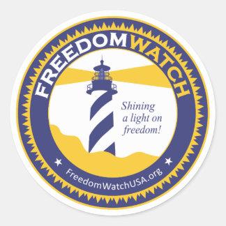 Het Horloge van de vrijheid Ronde Sticker