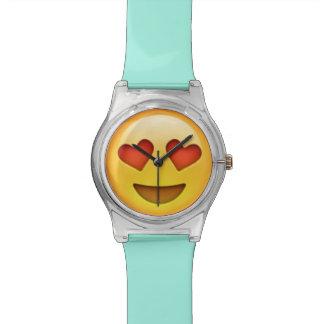 Het Horloge van Emoji van de Ogen van het hart
