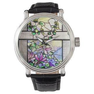 Het Horloge van het gebrandschilderd glas