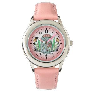 Het Horloge van het leuke Roze BloemenKind