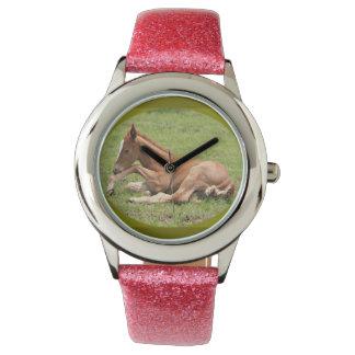 Het horloge van het paardmeisjes van het baby