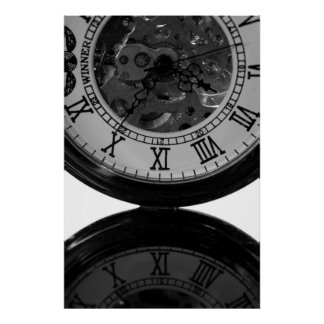 Het Horloge van het skelet Poster