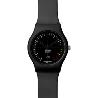 Het Horloge van Moto Guzzi - T3 Zwarte Tachometer