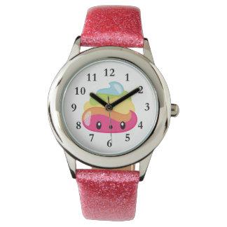 Het Horloge van Poo Emoji van de regenboog