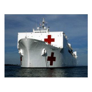 Het Hospitaalschip van de Genade USNS Briefkaart