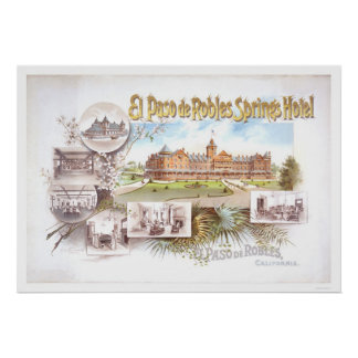 Het Hotel van El Paso DE Robles Springs Poster