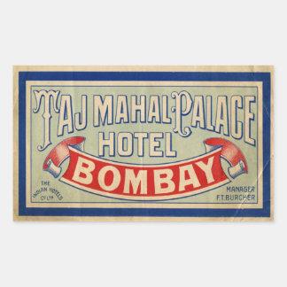 Het Hotel van Mahal van Taj Rechthoekvormige Stickers