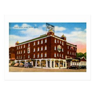 Het Hotel van vier Vlaggen, Niles, Michigan Briefkaart