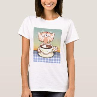 Het Houden van van de koffie Gestreepte kat T Shirt