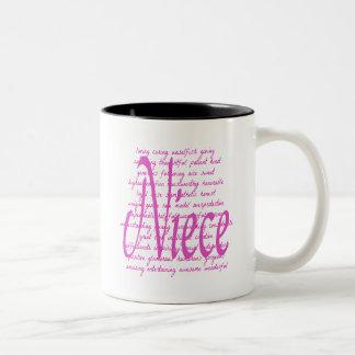Het houden van Woorden voor Nicht Tweekleurige Koffiemok
