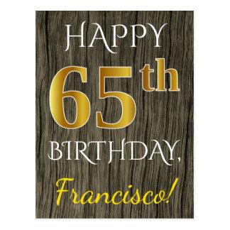 Het Hout van Faux, Gouden 65ste Verjaardag Faux + Briefkaart